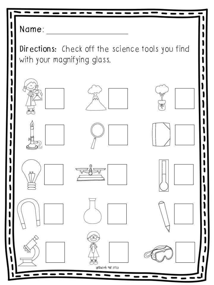 Worksheets Tools Of Science Worksheet science tools in kindergarten slide1 slide2