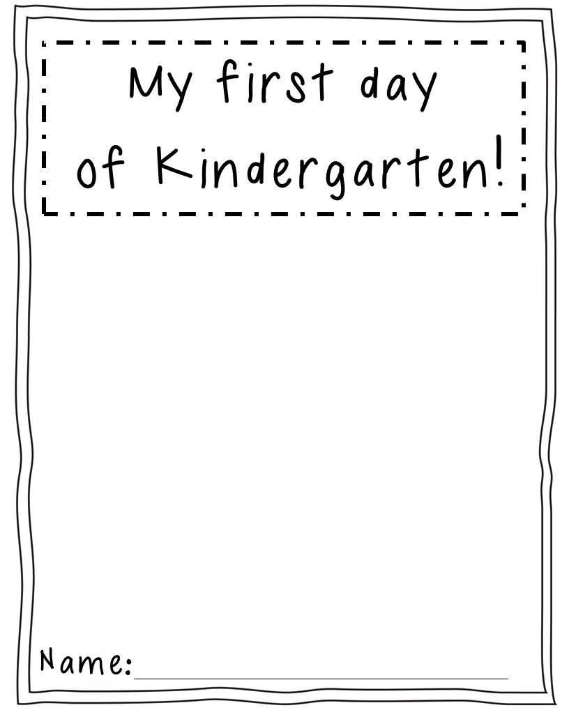 worksheet Kindergarten Activities first day activities in kindergarten slide1