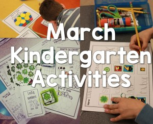 March Kindergarten Activities