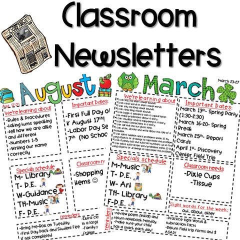 classroom newsletter freebie kickin 39 it in kindergarten. Black Bedroom Furniture Sets. Home Design Ideas