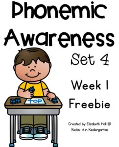 Phonemic Awareness Set 4 Intro and Freebie