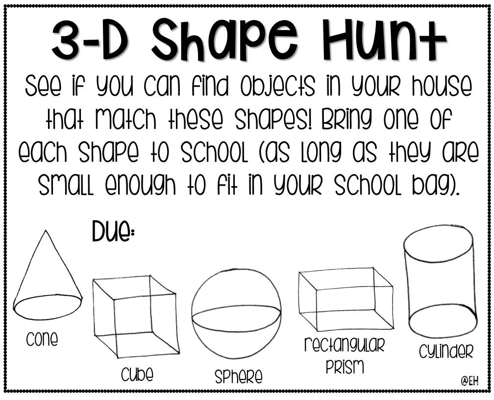3 d shape hunt freebie. Black Bedroom Furniture Sets. Home Design Ideas
