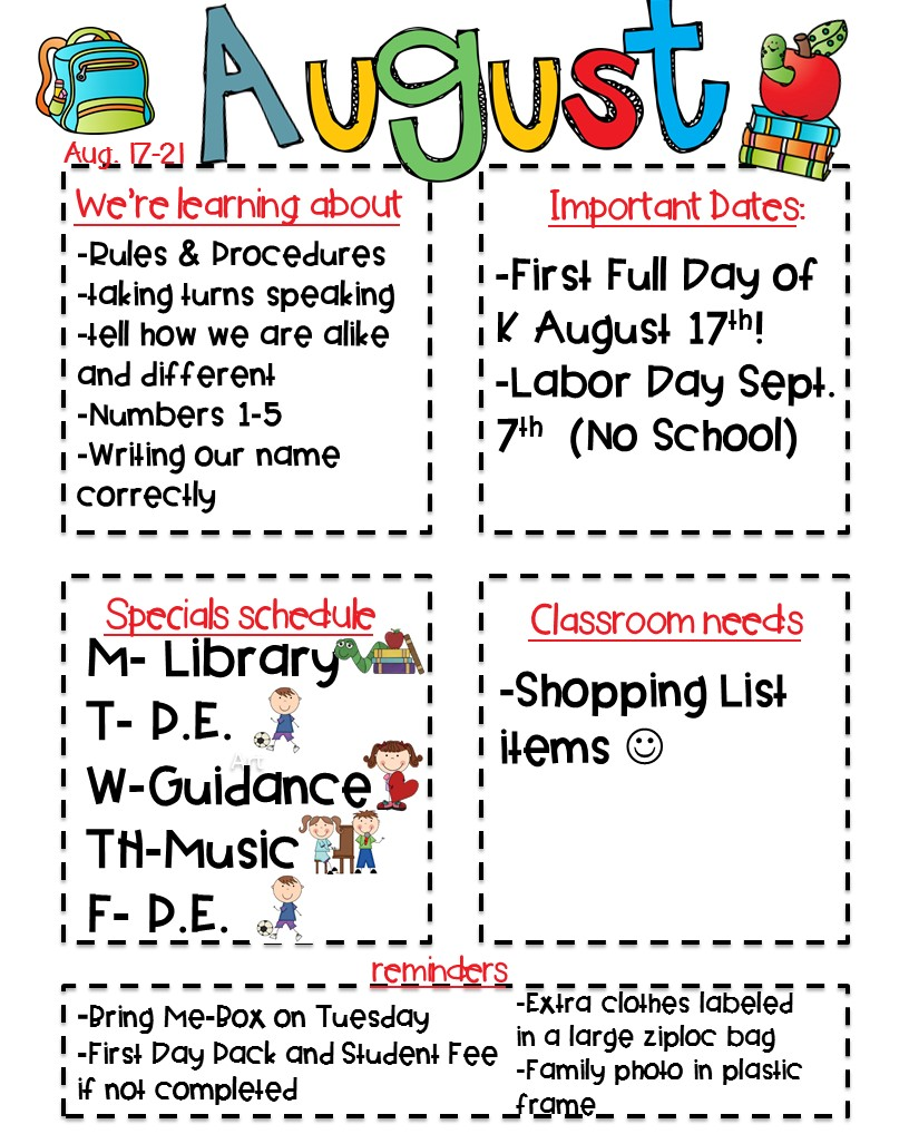5th grade newsletter template - classroom newsletter freebie kickin 39 it in kindergarten