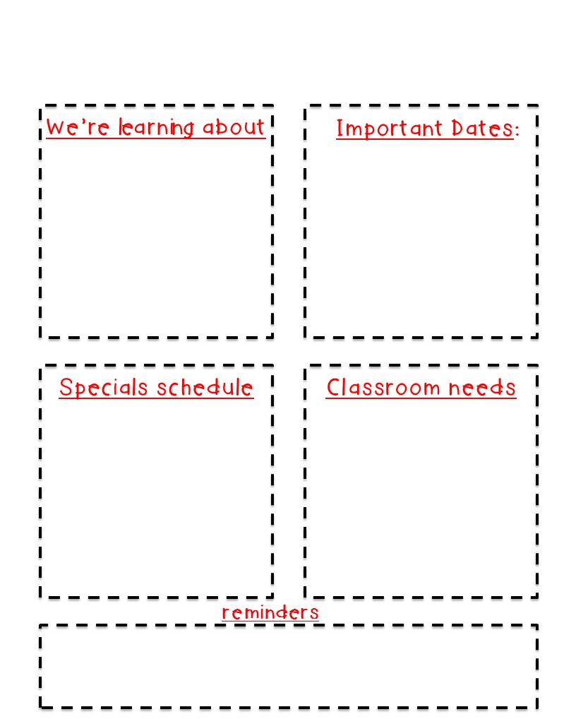 Classroom newsletter freebie kickin it in kindergarten newsletters here is a template for you to start using i made this as simple as i possibly could for you all you have to do is insert text boxes maxwellsz