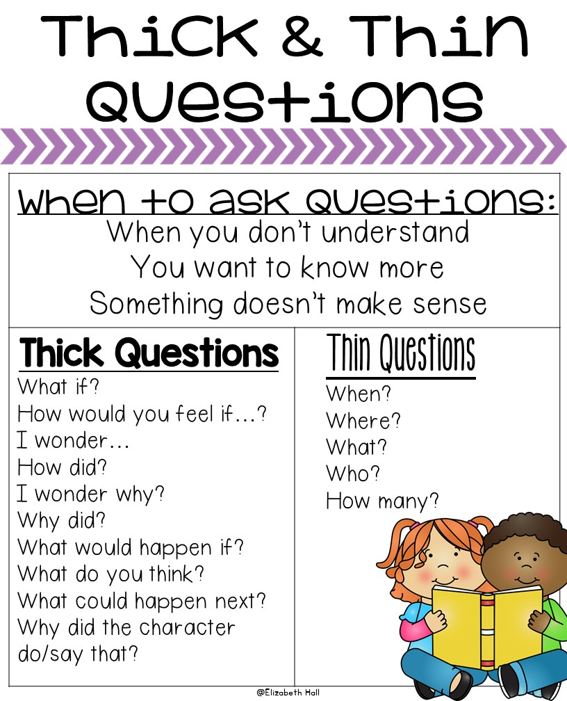 Thick and Thin Questions - Kickin' It In Kindergarten